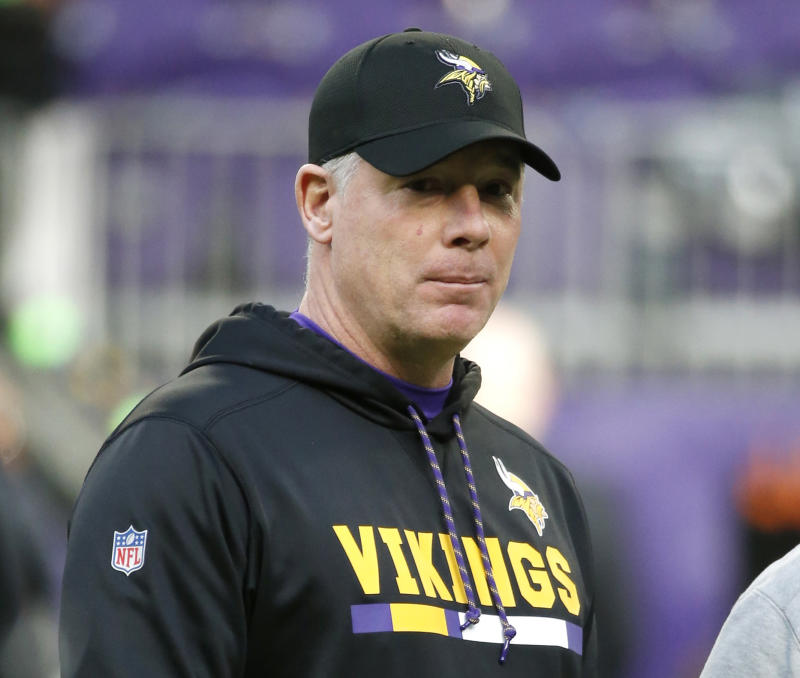 Former Minnesota Vikings offensive coordinator Pat Shurmur is officially the Giants' new head coach. (AP)