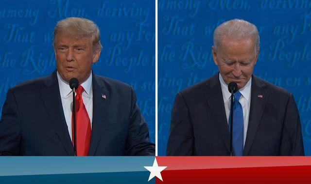 US presidential debate: Donald Trump v Joe Biden - the six key moments