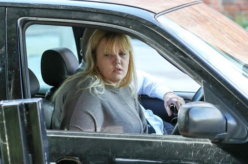 Stacey White, mother of Lucy McHugh, arriving at Winchester Crown court. Source: PA