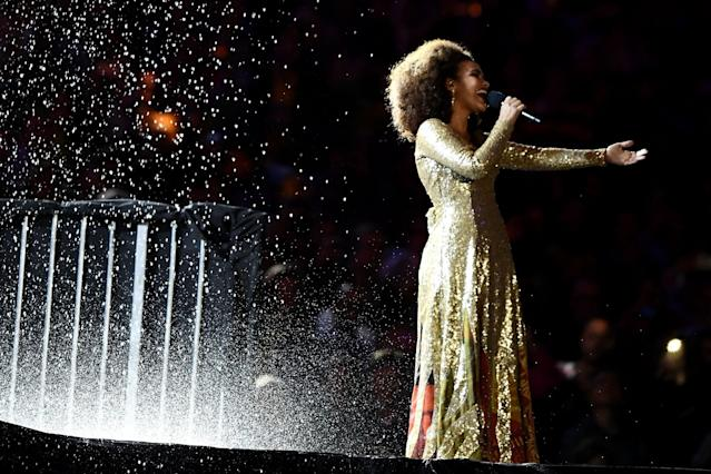 <p>Singer Mariene de Castro performs during the Closing Ceremony on Day 16 of the Rio 2016 Olympic Games at Maracana Stadium on August 21, 2016 in Rio de Janeiro, Brazil. (Photo by David Ramos/Getty Images) </p>