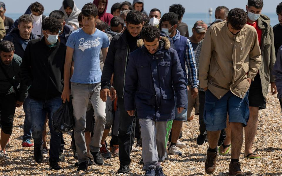 Migrants arrive on Dungeness beach - Dan Kitwood/Getty Images