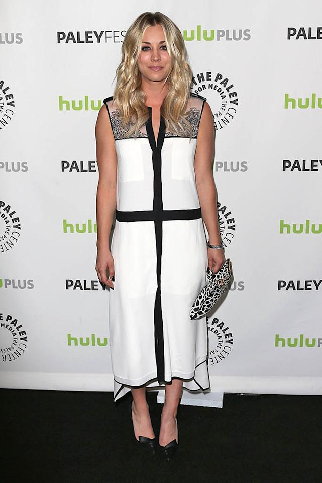 "Kaley Cuoco attends the 30th Annual PaleyFest featuring the cast of ""The Big Bang Theory"" at the Saban Theatre on March 13, 2013 in Beverly Hills, California."