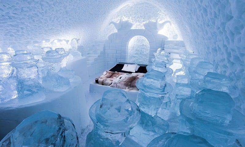 """<p>Sure, anyone can tackle a night in the Arctic tucked inside a heated hotel room, but only the brave would opt to sleep in a suite crafted entirely of ice and snow. Ice hotels are surging in popularity, from the ultra swanky to the youthful and thematic. Sleep inside an art suite in Sweden's <a href=""""https://me.popsugar.com/how-to/Ice-Hotel-Sweden-43239523"""" target=""""_blank"""" class=""""ga-track"""" data-ga-category=""""Related"""" data-ga-label=""""http://me.popsugar.com/how-to/Ice-Hotel-Sweden-43239523"""" data-ga-action=""""In-Line Links"""">Icehotel</a>, warm up in a premium deluxe suite with a private hot tub in <a href=""""http://www.popsugar.com/smart-living/photo-gallery/44275914/image/44275920/Hotel-de-Glace"""" target=""""_blank"""" class=""""ga-track"""" data-ga-category=""""Related"""" data-ga-label=""""http://www.popsugar.com/smart-living/photo-gallery/44275914/image/44275920/Hotel-de-Glace"""" data-ga-action=""""In-Line Links"""">Quebec City's Hôtel de Glace</a>, or opt for a themed suite inside Lapland Hotels SnowVillage (a past theme was <a href=""""https://www.popsugar.com/entertainment/Game-Thrones-Ice-Hotel-44487799"""" target=""""_blank"""" class=""""ga-track"""" data-ga-category=""""Related"""" data-ga-label=""""http://www.popsugar.com/entertainment/Game-Thrones-Ice-Hotel-44487799"""" data-ga-action=""""In-Line Links""""><strong>Game of Thrones</strong></a>!). Reindeer hides and thermal sleeping bags are included.</p>"""