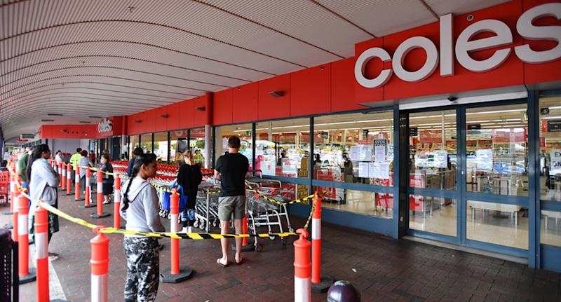 Coles has come under fire for the hand sanitiser it's offering employees. Source: AAP