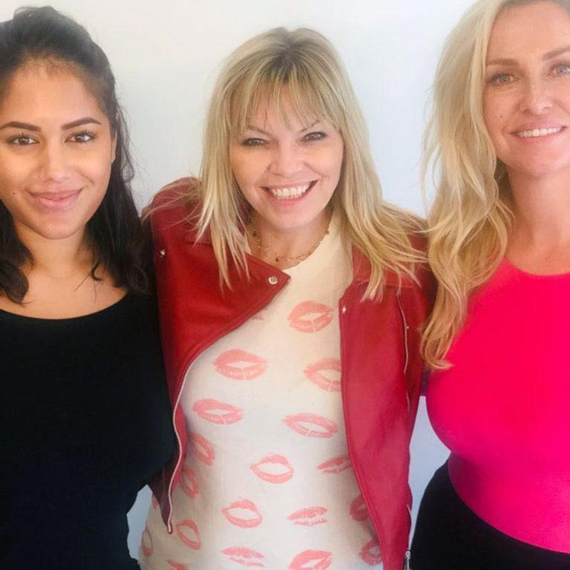 From left: Love Island's Malin Andersson, White Wine Question Time Host Kate Thornton and Big Brother's Josie Gibson