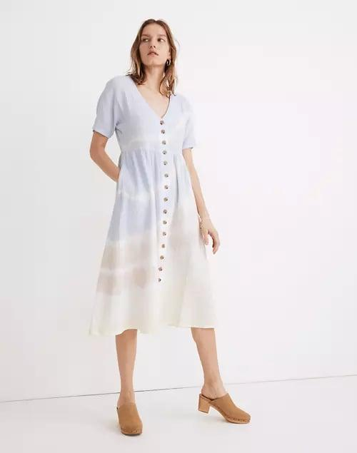<p>Tie-dye isn't over, and this <span>Madewell Tie-Dye Lightspun Button-Front Midi Dress</span> ($128) proves it.</p>
