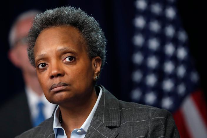 <p>Lori Lightfoot faces civil rights lawsuit for 'racial discrimination'</p> (Copyright 2020 The Associated Press. All rights reserved)