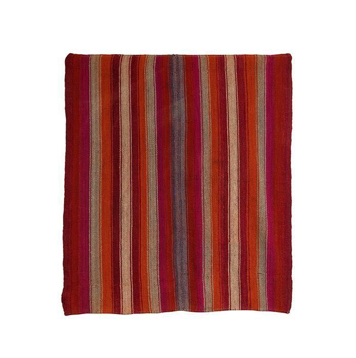 """<p><strong>Pat McGann Gallery</strong></p><p>patmcganngallery.com</p><p><a href=""""https://patmcganngallery.com/collections/pat-mcgann-showroom/products/mid-century-bolivian-woven-textile"""" rel=""""nofollow noopener"""" target=""""_blank"""" data-ylk=""""slk:Shop Now"""" class=""""link rapid-noclick-resp"""">Shop Now</a></p><p>Made of two heavy wool panels sewn together, this Bolivian serape from Pat McGann Gallery in Los Angeles would look striking covering an ottoman or an armchair. </p>"""