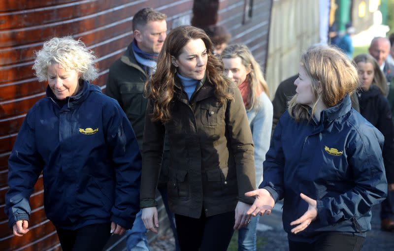 Duchess Kate makes first solo visit to Northern Ireland