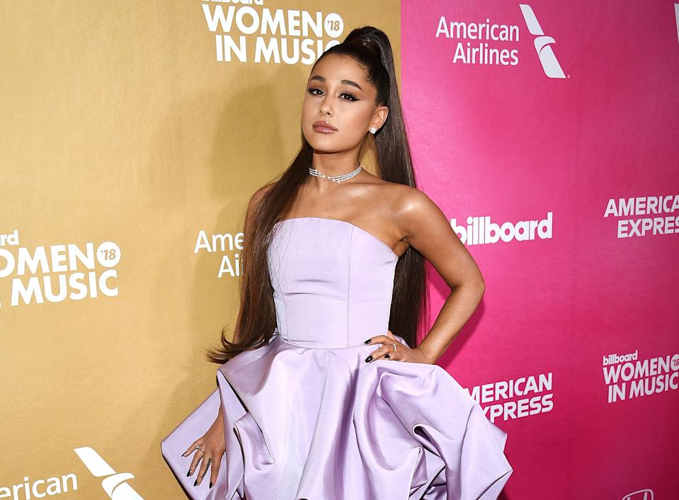 Ariana Grande attends the 13th annual Billboard Women in Music event at Pier 36 on Thursday, Dec. 6, 2018, in New York. (Photo by Evan Agostini/Invision/AP)