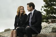 """<p><strong>For Scully:</strong> A chin-length red wig, a black blazer, a black pencil skirt, heels, and a white button-down shirt. Add an FBI badge to make sure everyone knows who you are.</p> <p><strong>For Mulder:</strong> A black suit and a brown wig. Carry around a badge with his character's name or a poster that says """"I Want to Believe.""""</p>"""
