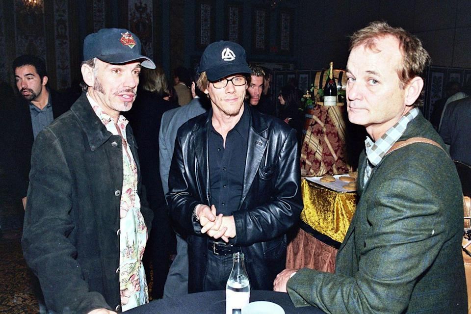 <p>Billy Bob Thornton, Kevin Bacon and Bill Murray during 2000 NATO/Showest Convention at Paris Hotel in Las Vegas, Nevada.</p>