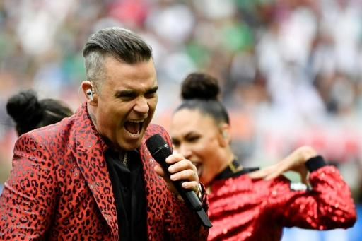 Robbie Williams caused controversy during the opening ceremony