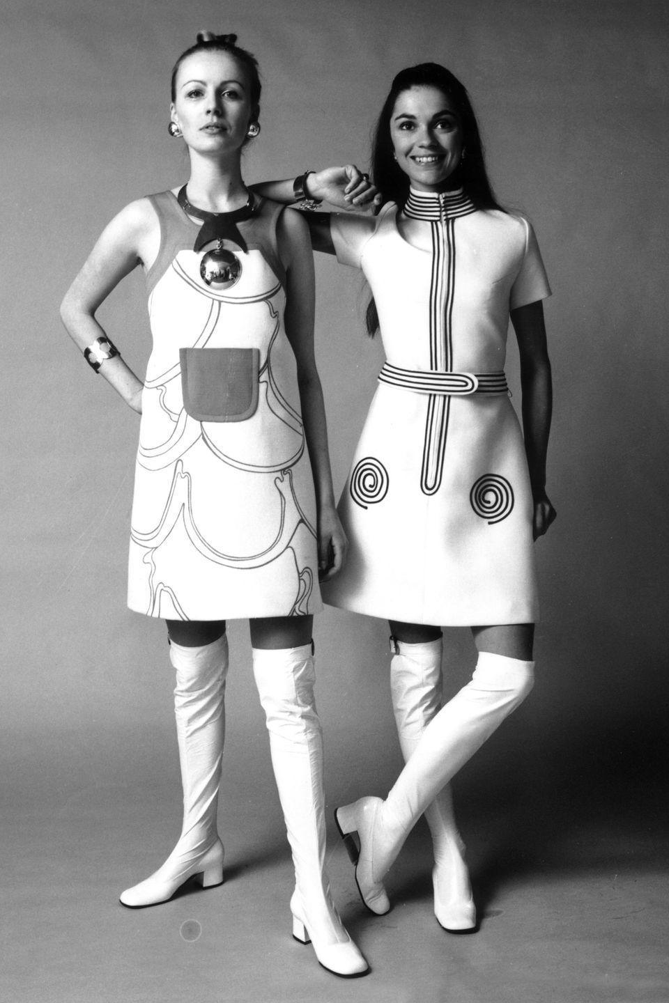 <p>Star Trek meets go-go girl, complete with metallic accents, mini dresses and PVC boots. 🖖 </p>