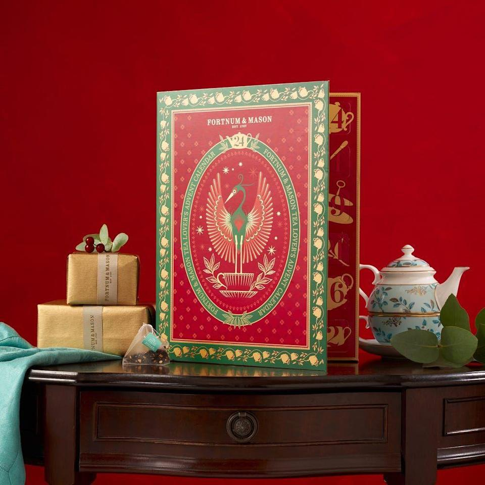"""<p>Fortnum's ever-popular feasting advent calendar sold out in a flash this year, but the team have still got a few tricks up their sleeve. This tea calendar touts unusual brews like 'Camomile & Bee Pollen' and 'Gin & Tonic Green Tea' alongside the classics. £25, <a href=""""https://www.fortnumandmason.com/christmas-tea-lovers-advent-calendar"""" rel=""""nofollow noopener"""" target=""""_blank"""" data-ylk=""""slk:fortnumandmason.com"""" class=""""link rapid-noclick-resp"""">fortnumandmason.com</a></p>"""