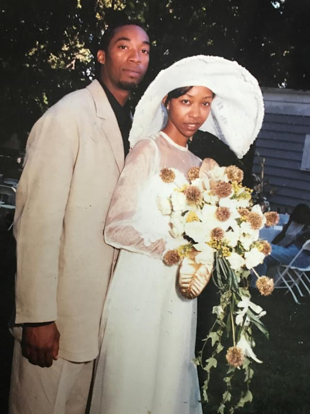 Anthony and Dajuana Mayers on their wedding day. (Photo: Courtesy Mecca Mayers)