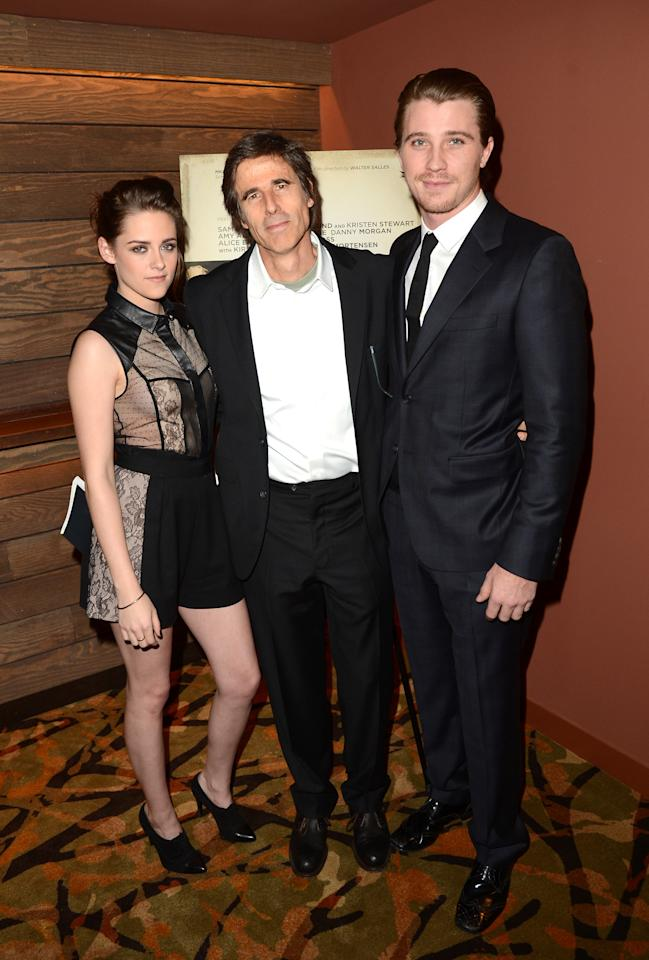 LOS ANGELES, CA - DECEMBER 06:  Actress Kristen Stewart, director Walter Salles, and actor Garrett Hedlund attend the private Los Angeles screening of 'On The Road' at Sundance Cinema on December 6, 2012 in Los Angeles, California.  (Photo by Jason Merritt/Getty Images)