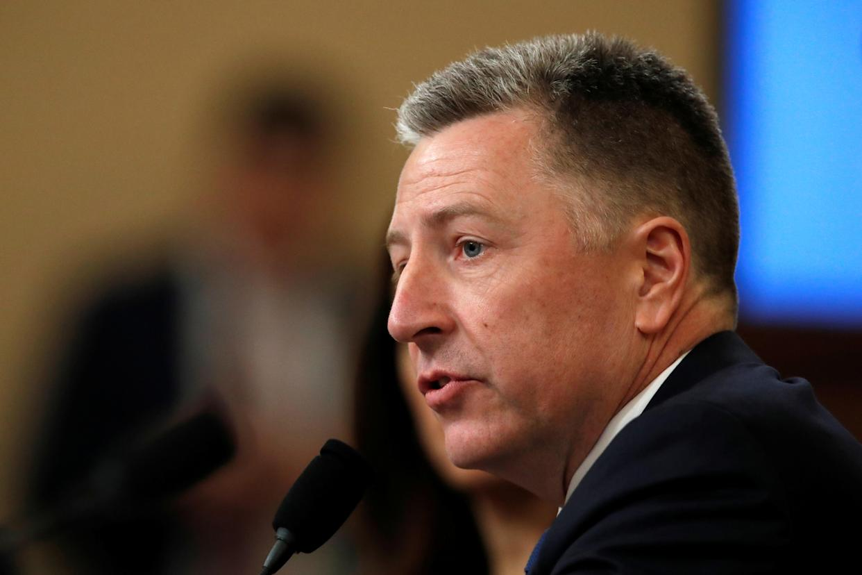 Kurt Volker, former U.S. special envoy to Ukraine, testifies on Capitol Hill. (Photo: Alex Brandon/Pool/Reuters)