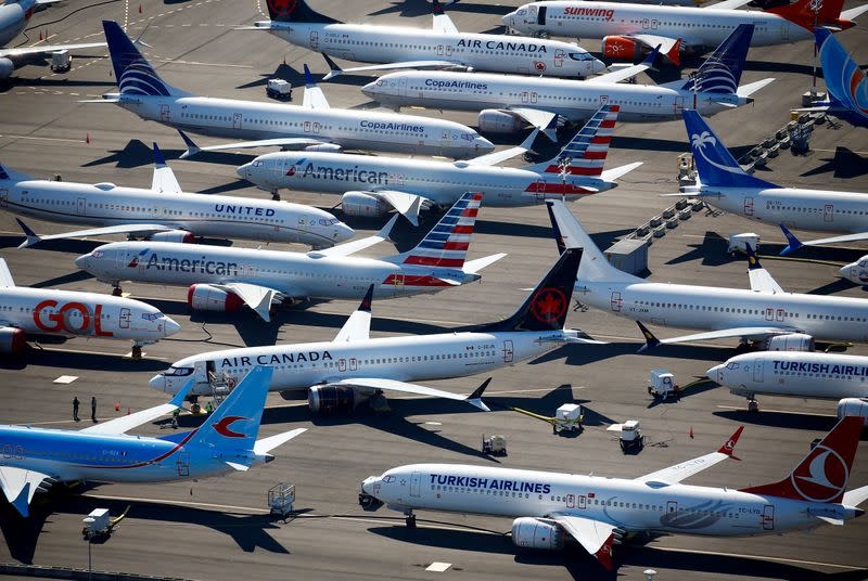 Boeing scours idle 737 MAX plant for industrial snags
