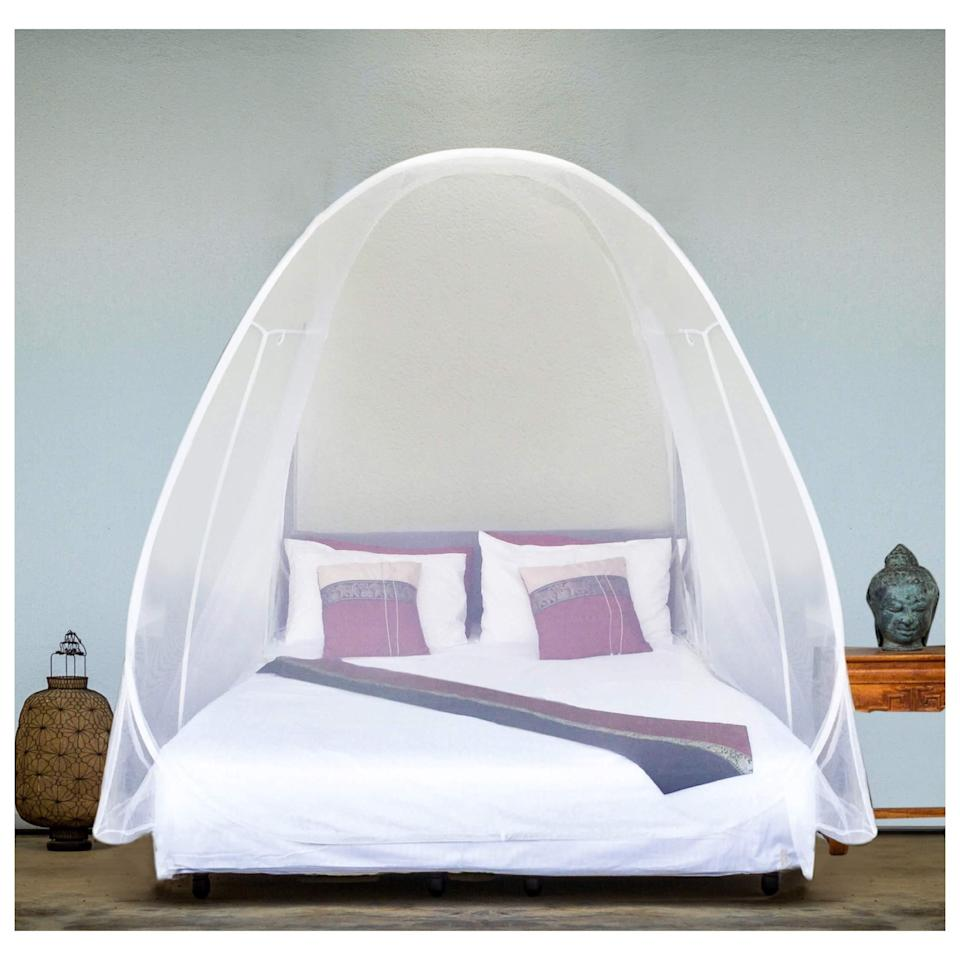 "<h3>Even Naturals Pop-Up Mosquito Net Tent</h3> <br>Not strictly for the bedroom, this fold-up tent made from high-quality and dense mosquito-wicking materials can be toted on-the-go for pop-up bite protection <em>anywhere </em>you dare to use it — including the backyard, park, or beach.<br><br><strong>Even Naturals</strong> Pop-Up Mosquito Net Tent, $, available at <a href=""https://amzn.to/2NePvI4"" rel=""nofollow noopener"" target=""_blank"" data-ylk=""slk:Amazon"" class=""link rapid-noclick-resp"">Amazon</a><br>"