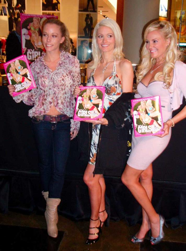 """The Girls Next Door -- Kendra Wilkinson, Holly Madison, and Bridget Marquardt -- signed copies of their calendar at Caesars Palace in Las Vegas last Sunday. Kendra recently announced that she and NFL wide receiver Hank Baskett are planning to tie the knot on June 27, 2009 at the Playboy Mansion. <a href=""""http://www.x17online.com"""" target=""""new"""">X17 Online</a> - December 21, 2008"""