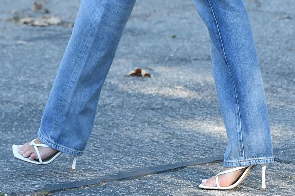 A closer look at Culpo's sandals. - Credit: JOEY ANDREW / Shutterstock