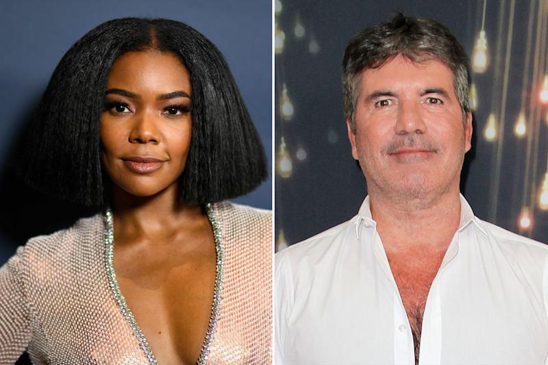 Gabrielle Union and Simon Cowell | Frazer Harrison/Getty Images; Tibrina Hobson/WireImage