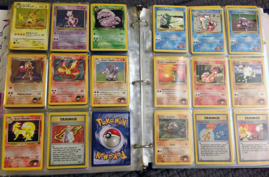 <p>Not only could you never have too many Pokemon cards, but a card folder was also needed to show your professional level of the game. [Wrong Button Blog] </p>