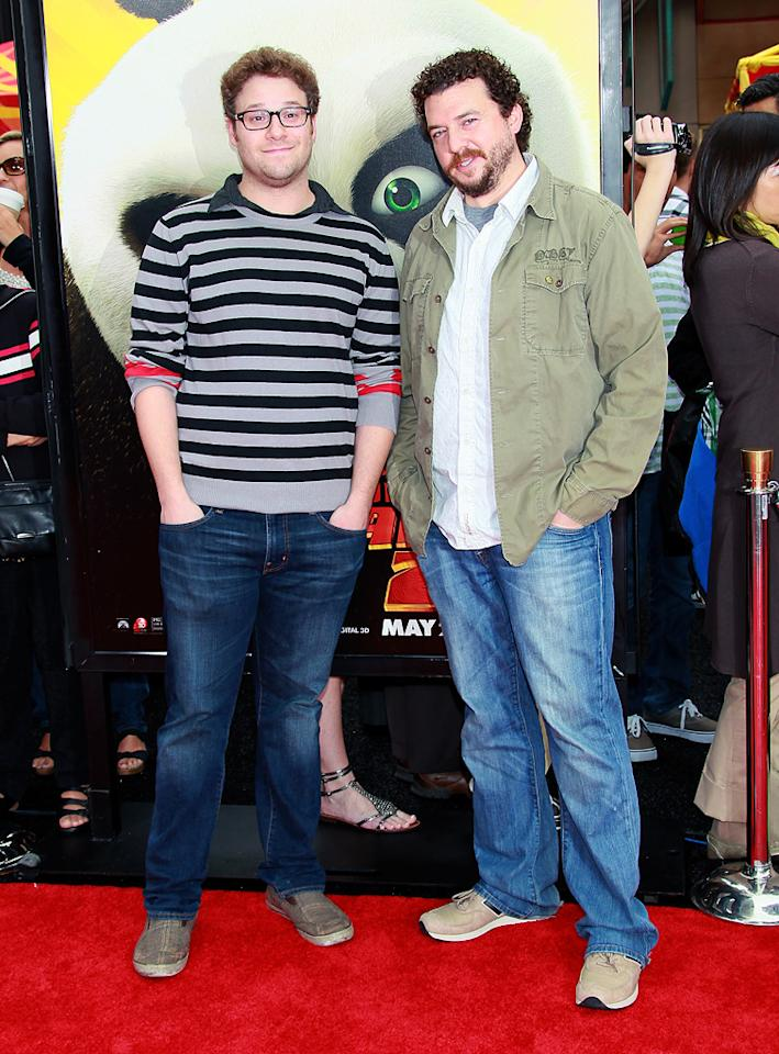 "<a href=""http://movies.yahoo.com/movie/contributor/1804494942"">Seth Rogen</a> and <a href=""http://movies.yahoo.com/movie/contributor/1802103902"">Danny McBride</a> attend the Los Angeles premiere of <a href=""http://movies.yahoo.com/movie/1810090593/info"">Kung Fu Panda 2</a> on May 22, 2011."