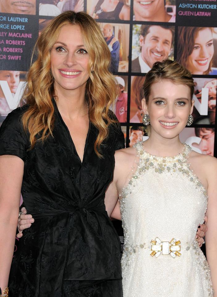 "<a href=""http://movies.yahoo.com/movie/contributor/1800019215"">Julia Roberts</a> and <a href=""http://movies.yahoo.com/movie/contributor/1804508466"">Emma Roberts</a> at the Los Angeles premiere of <a href=""http://movies.yahoo.com/movie/1810094501/info"">Valentine's Day</a> - 02/08/2010"