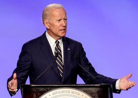 Former Vice President Biden addresses electrical workers' conference in Washington