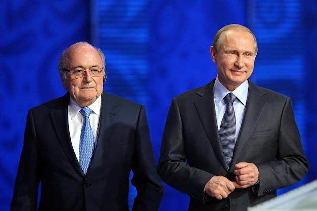 Disgraced Sepp Blatter defies FIFA ban to attend World Cup as guest of Vladimir Putin