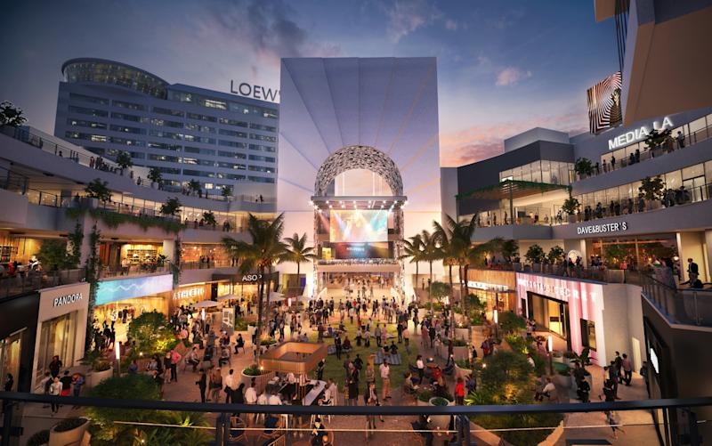 Rendering of Hollywood & Highland after a $100 million makeover