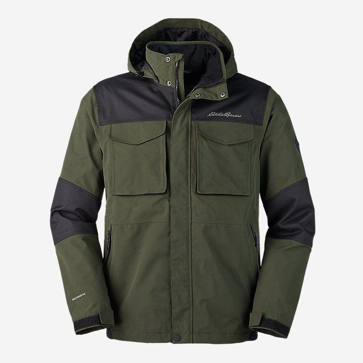 """<p><strong>Eddie Bauer</strong></p><p>eddiebauer.com</p><p><strong>$99.99</strong></p><p><a href=""""https://go.redirectingat.com?id=74968X1596630&url=https%3A%2F%2Fwww.eddiebauer.com%2Fp%2F10112220%2Fmen&sref=https%3A%2F%2Fwww.menshealth.com%2Fstyle%2Fg26014395%2Fbest-spring-jackets-men%2F"""" rel=""""nofollow noopener"""" target=""""_blank"""" data-ylk=""""slk:BUY IT HERE"""" class=""""link rapid-noclick-resp"""">BUY IT HERE</a></p><p>Fashion meets function in this popular men's jacket style. This Eddie Bauer score is built for durability, utilizing tough, waterproof fabrics in a relaxed fit. </p>"""