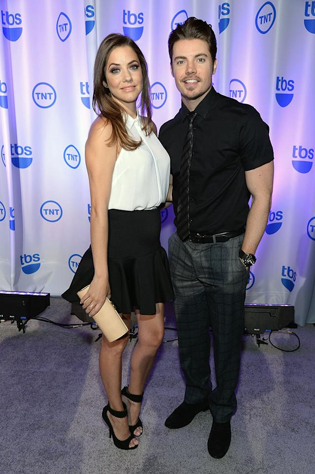"""Julie Gonzalo and Josh Henderson (""""Dallas"""") attend the 2013 TNT/TBS Upfront at Hammerstein Ballroom on May 15, 2013 in New York City."""