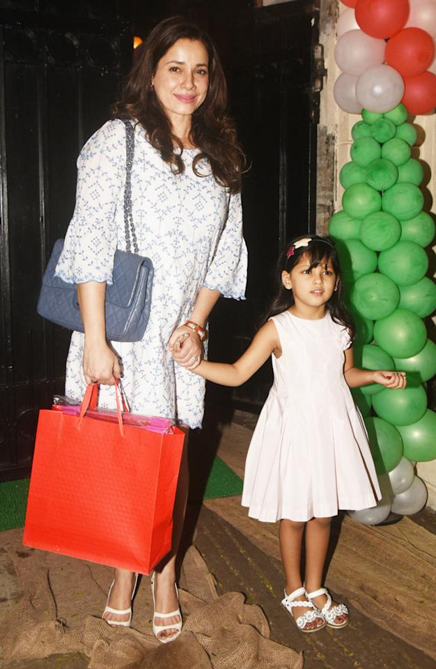 Neelam Soni with her daughter Ahana at Ekta Kapoor's pre-Christmas party. (Pic: Yogen Shah)