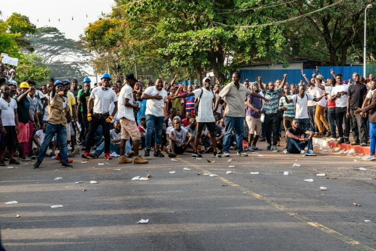 Opposition protesters have taken to the streets in frustration over Weah's economic management (AFP Photo/Carielle Doe)