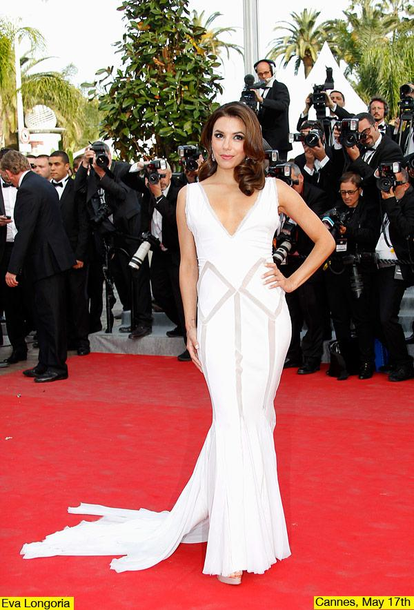 Eva Longoria Flaunts Her Curves In White Hot Gown At Cannes
