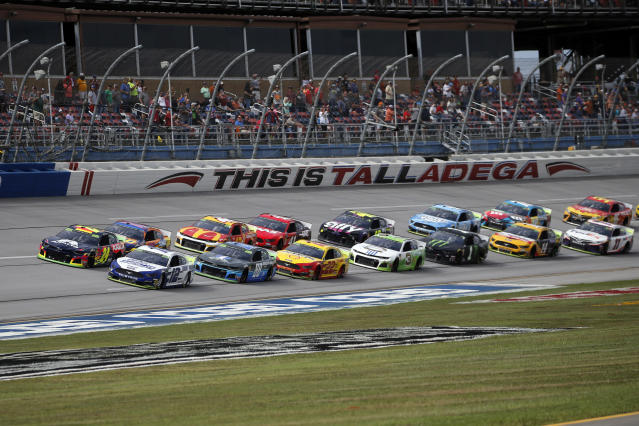 The decision to allow a limited number of fans at Talladega comes a week after 1,000 military members can attend at Homestead. (AP Photo/Butch Dill)