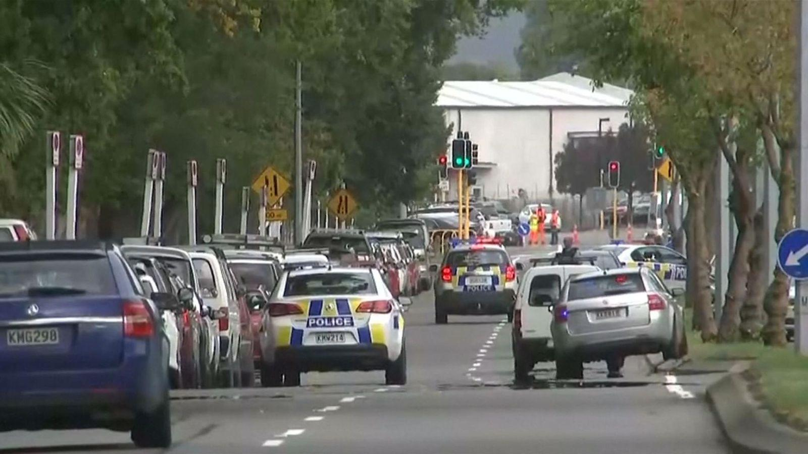 Police are deployed in the city centre after two mosques are targeted