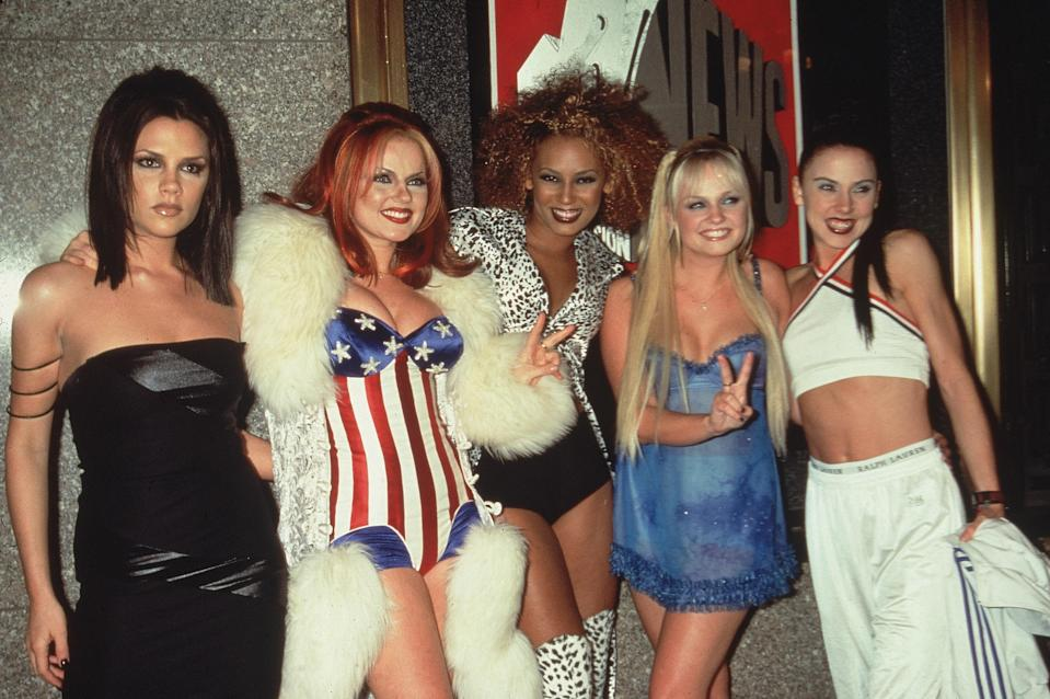 Posh, Ginger, Scary, Baby, and Sporty did what they do best at the 1997 Awards, promoted girl power, sang, and showed off their super unique style.