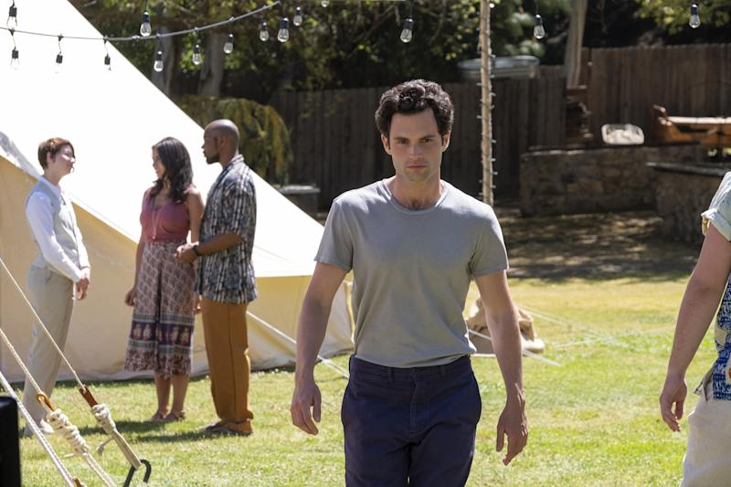 Penn Badgley as Joe Goldberg in the new season of You.