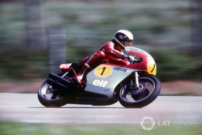 """1974 - Phil Read, MV Agusta<span class=""""copyright"""">Gold and Goose / Motorsport Images</span>"""