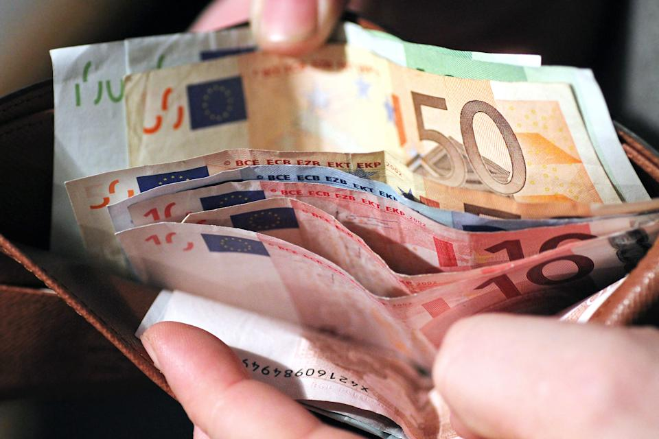 European Money in a wallet
