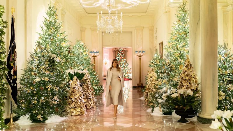 Melania Trump unveils patriotic-themed Christmas decorations