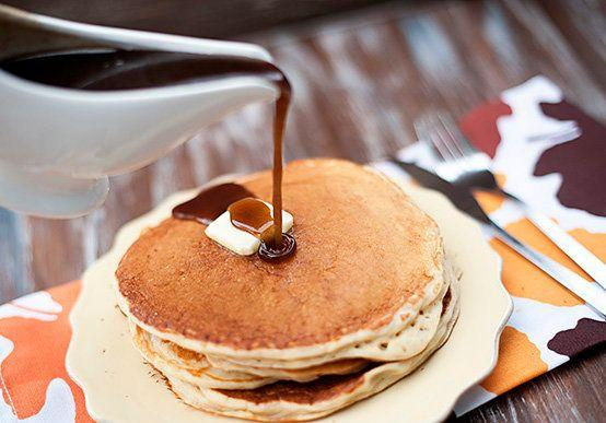 """<strong>Get the <a href=""""http://www.bunsinmyoven.com/2012/10/04/apple-cider-pancakes-with-cinnamon-syrup/"""" target=""""_blank"""">Apple Cider Pancakes with Cinnamon Syrup recipe</a> from Buns In My Oven</strong>"""