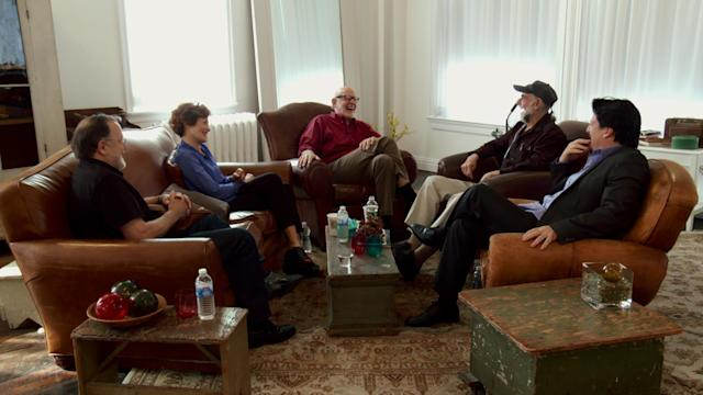 Dave Goelz, Fran Brill, Frank Oz, Jerry Nelson, and Bill Barretta in <em>Muppet Guys Talking.</em> (Photo: Vibrant Mud LLC)