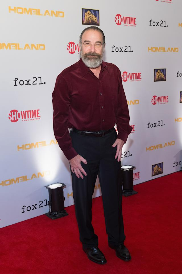 "WASHINGTON, DC - SEPTEMBER 09: Mandy Patinkin attends a premiere screening hosted by SHOWTIME and Fox 21 for the hit series ""Homeland"" for Season 3 at Corcoran Gallery of Art on September 9, 2013 in Washington City. (Photo by Daniel Boczarski/Getty Images for Showtime)"