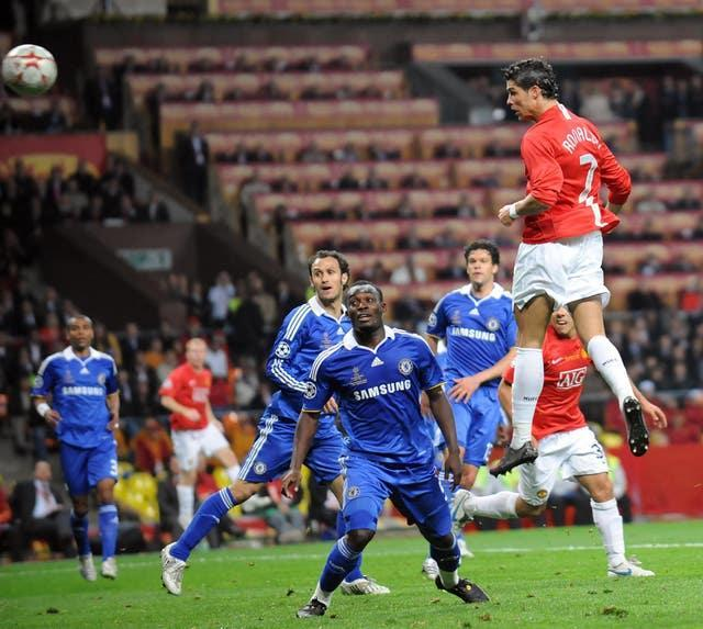Ronaldo's towering header put Manchester United in front against Chelsea in the 2008 Champions League final