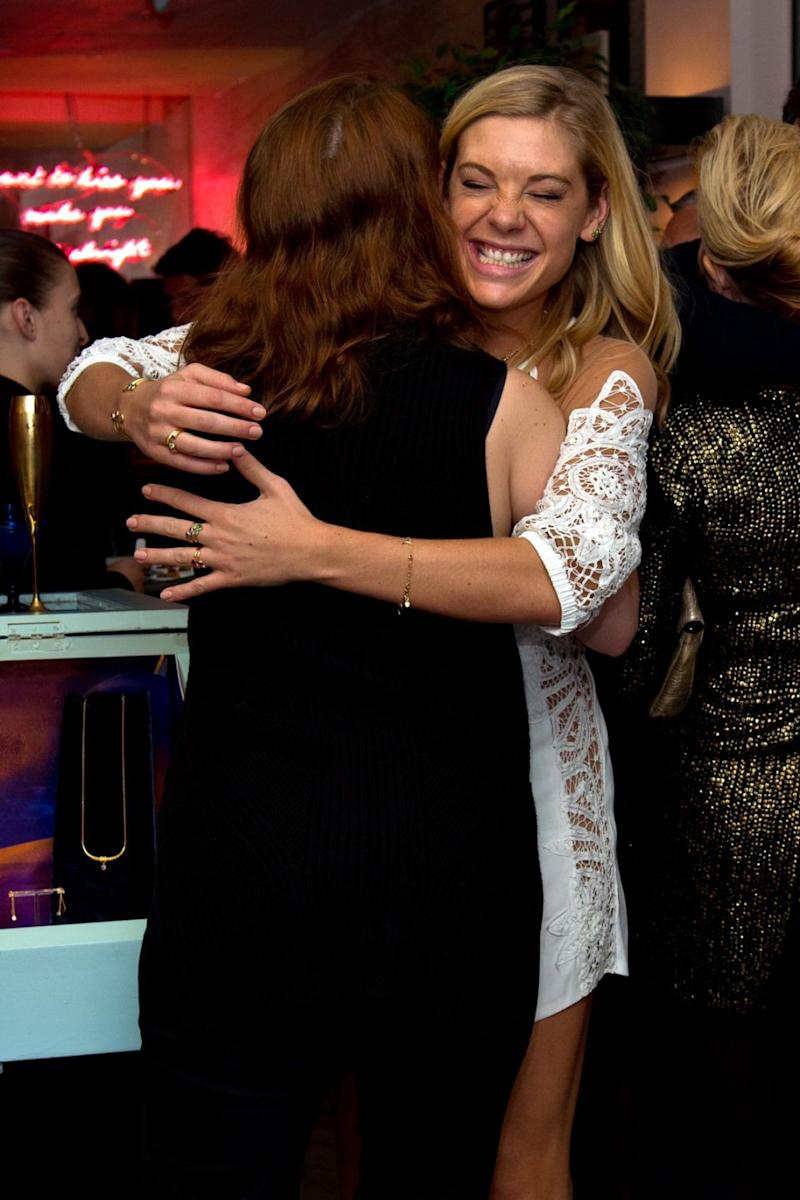 Here they are sharing a hug at Chelsea's jewellery launch in June last year. Photo: Getty Images